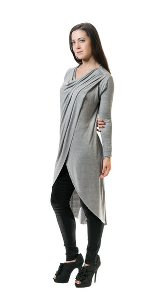 Light Gray Crossover Tunic