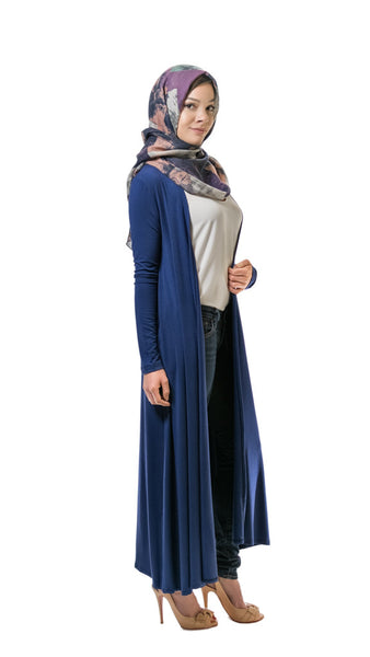 Navy Multi-Way Maxi Cardigan