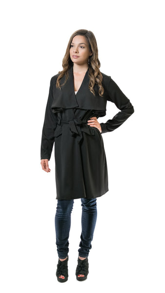 Black Drapey Trench