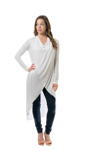 White Crossover Tunic