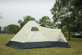 12 Person Tipi Tent tunnel tent with pyramid living area and canopy with Zipped in Groundsheet