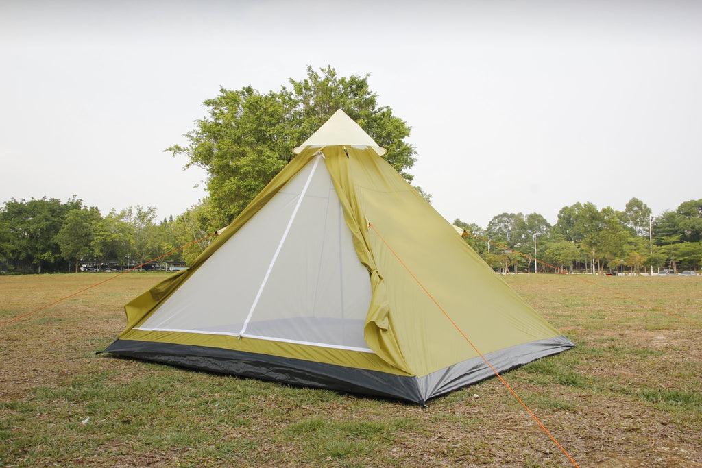 4 person tipi Apache tent, mesh door with PE floor ground sheet