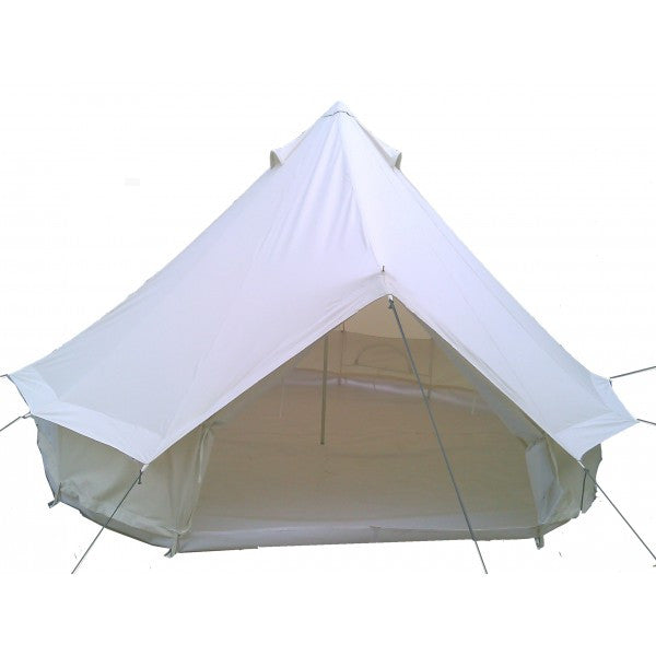 5 Metre GlampTex 500-S Bell tent with Sewn-in-Groundsheet Waterproof