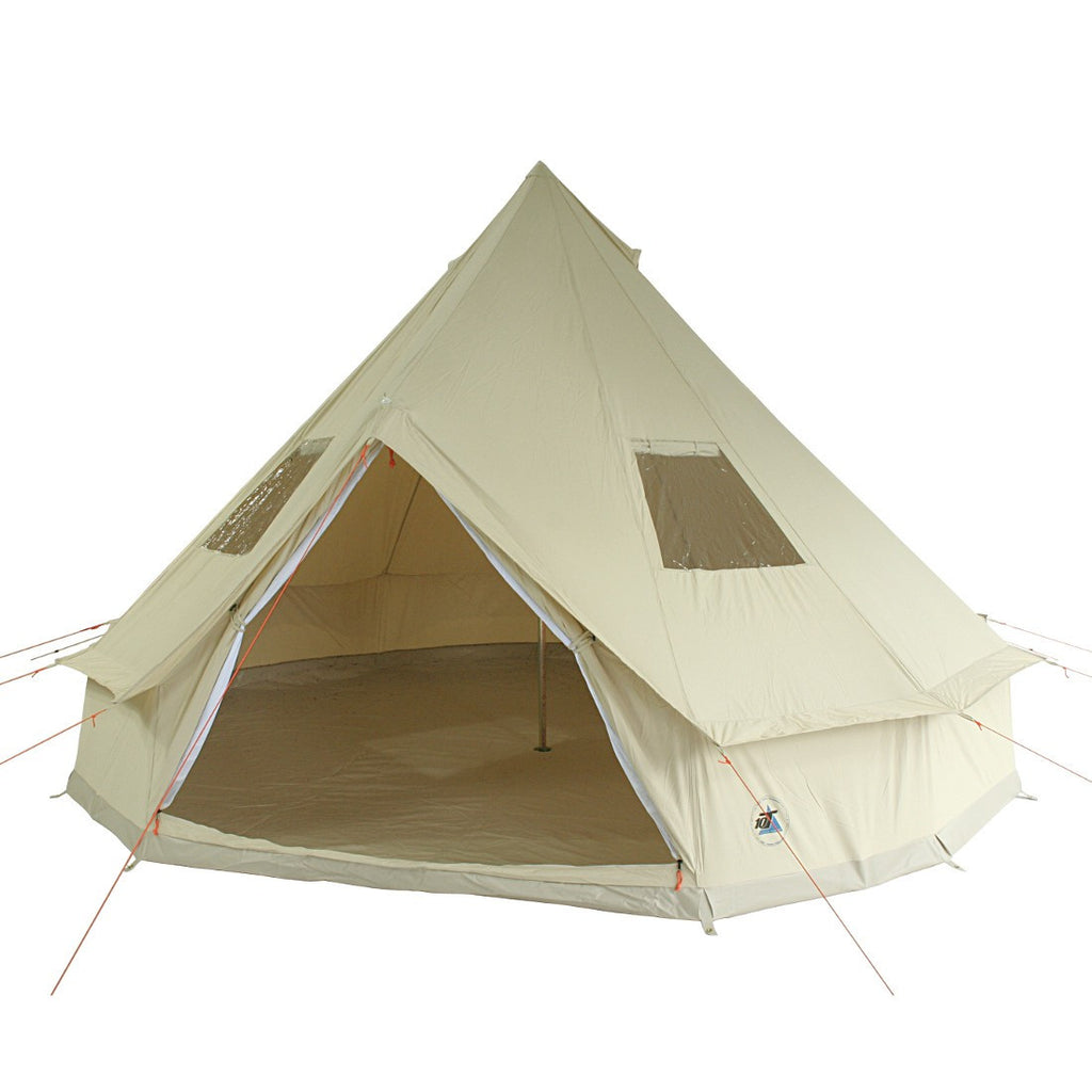4m Metre Desert 8 - 8 Person Bell tent with Sewn-in-Groundsheet Waterproof