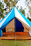 4m Metre GlampTex TC 400 - Ultimate Turquoise and Cream Bell tent with Zipped-in- Groundsheet Waterproof