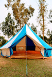5m Metre GlampTex TC 500 - Ultimate Turquoise and Cream Bell tent with Zipped-in- Groundsheet Waterproof