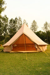 5m Bell tent 10-person pyramid round with zipped in ground sheet