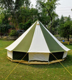 4m Metre GlampTex OC 400 - Ultimate Olive and Cream Bell tent with Zipped-in- Groundsheet Waterproof
