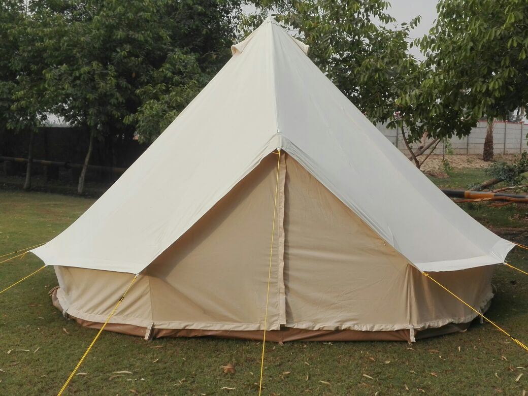 4 Metre GlampTex 400 - Standard Bell tent with Separate Groundsheet Waterproof - Bell tents