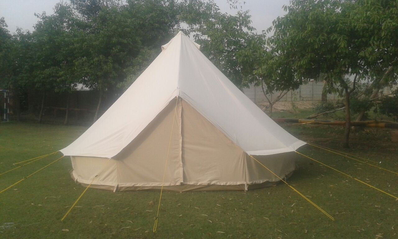 5m metre glamptex 500 ultimate bell tent with zipped in