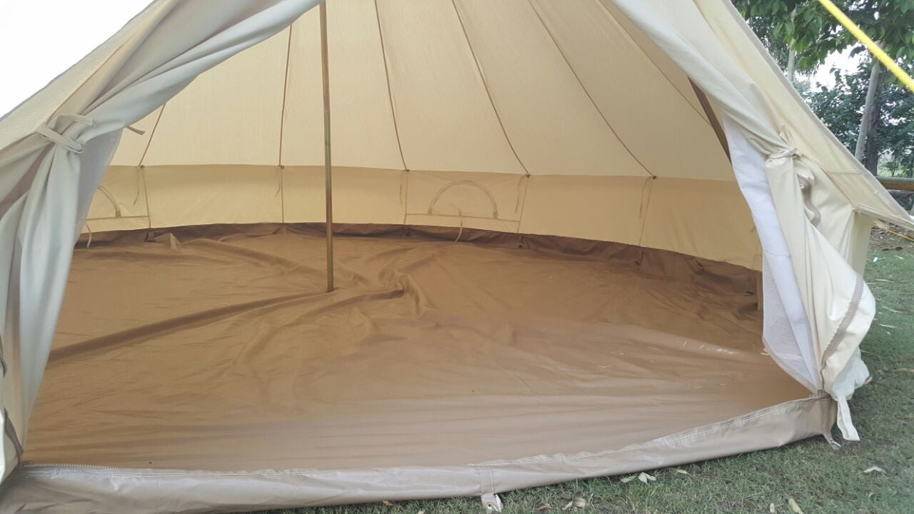 5m Metre Gl&Tex 500-Ultimate Bell tent Pyramid round with Zipped-in- Groundsheet Waterproof & 5m Metre GlampTex 500 - Ultimate Bell tent with Zipped-in ...
