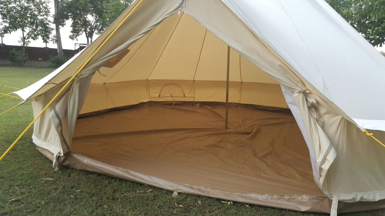 5 Metre Gl&Tex 500-Ultimate Bell tent with Zipped-in- Groundsheet Waterproof & 5m Metre GlampTex 500 - Ultimate Bell tent with Zipped-in ...