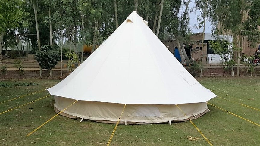 4 Metre Gl&Tex 400-Ultimate Bell tent with Zipped-in-Groundsheet Waterproof & 4 Metre GlampTex 400-Ultimate Bell tent with Zipped-in-Groundsheet ...