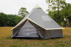 4m Bell tent 8-person pyramid round with zipped in ground sheet
