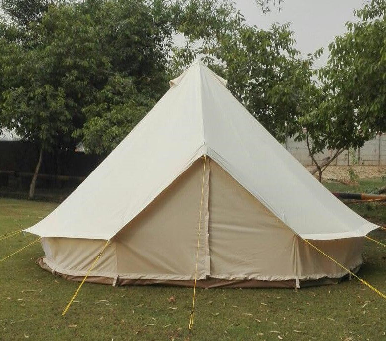 4M Metre GlampTex 400-Ultimate Bell tent with Zipped-in-Groundsheet Waterproof