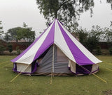 5m Metre GlampTex PC 500 - Ultimate Purple and Cream Bell tent with Zipped-in- Groundsheet Waterproof - Bell tents