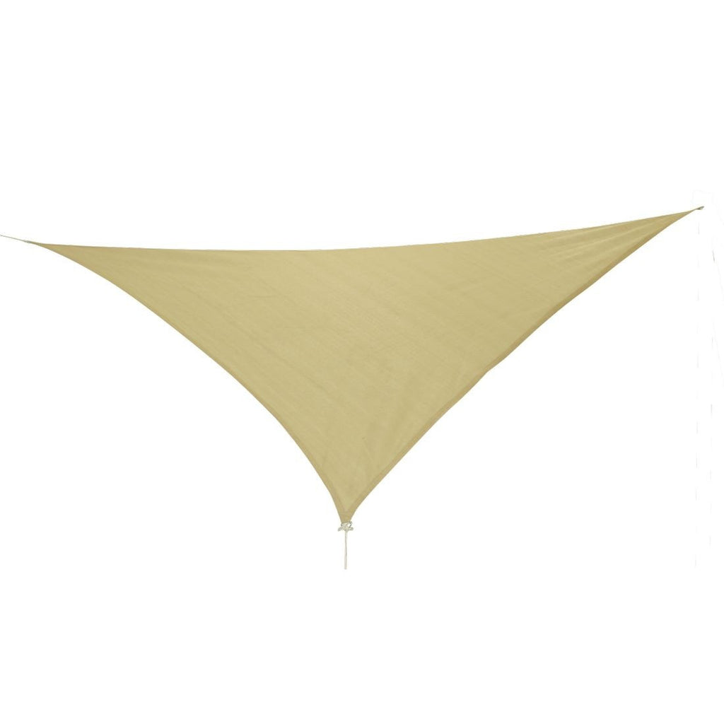 10T Emerson 500 - Triangle sun awning tarp, 500cm, knitted fabric, 90% UV-protection