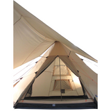 10T Shoshone 500 - 10-person teepee tent, pyramid tent, sewn in ground sheet, canopy awning - Bell tents