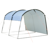 10T Addison - Tunnel-shaped gazebo 292x254x197cm, windand weather-proof, blue - Bell tents
