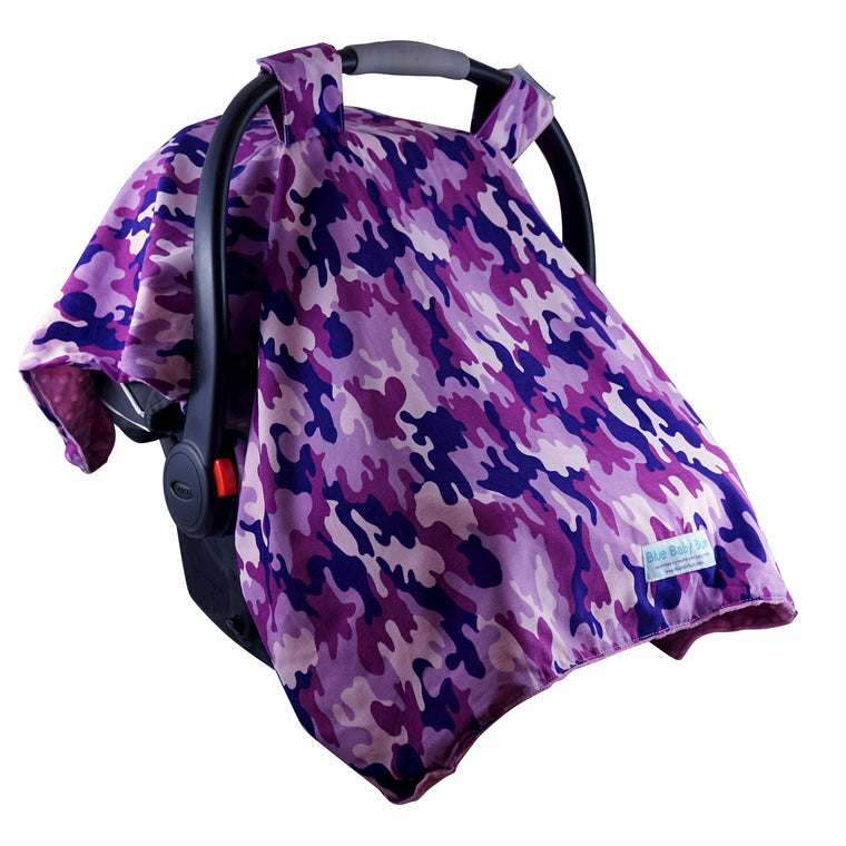 Car Seat Canopy Camo Girls