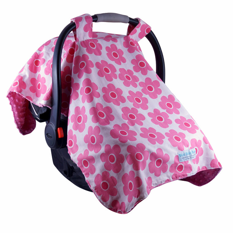 Car Seat Canopy Pink Bloom