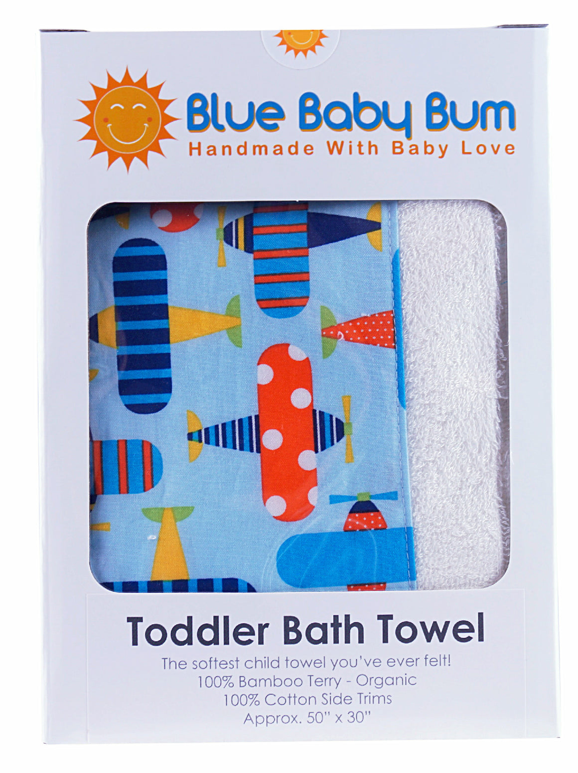 Toddler Bath Towel Planes