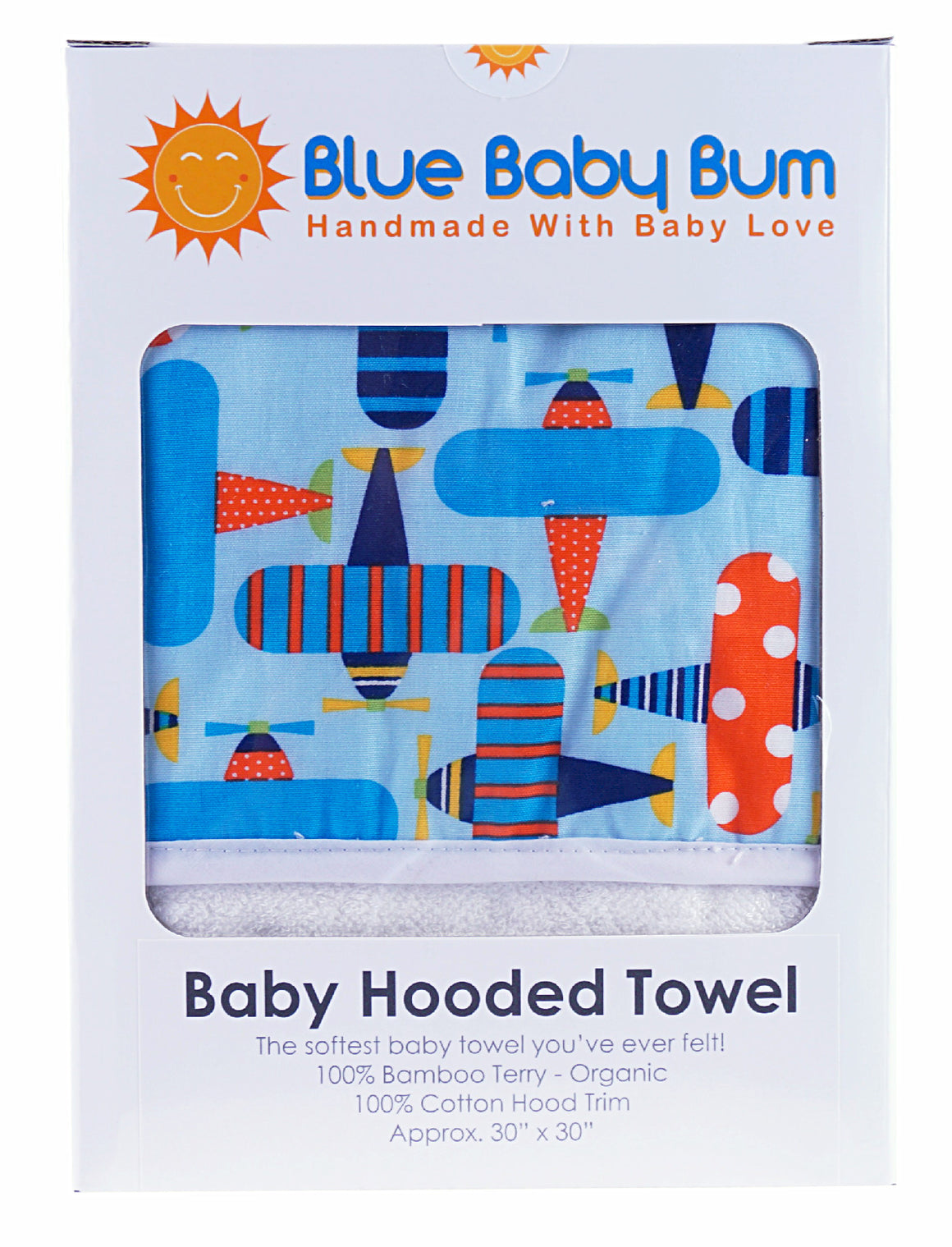 Hooded Baby Bath Towel Planes