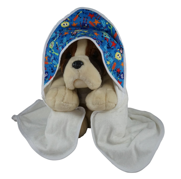 Hooded Baby Bath Towel Bots