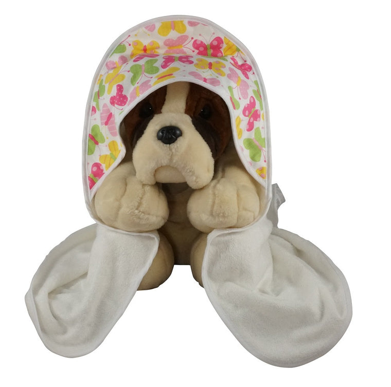 Hooded Baby Bath Towel Butterflies