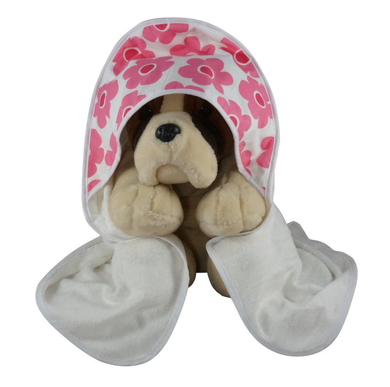 Hooded Baby Bath Towel Pink Bloom