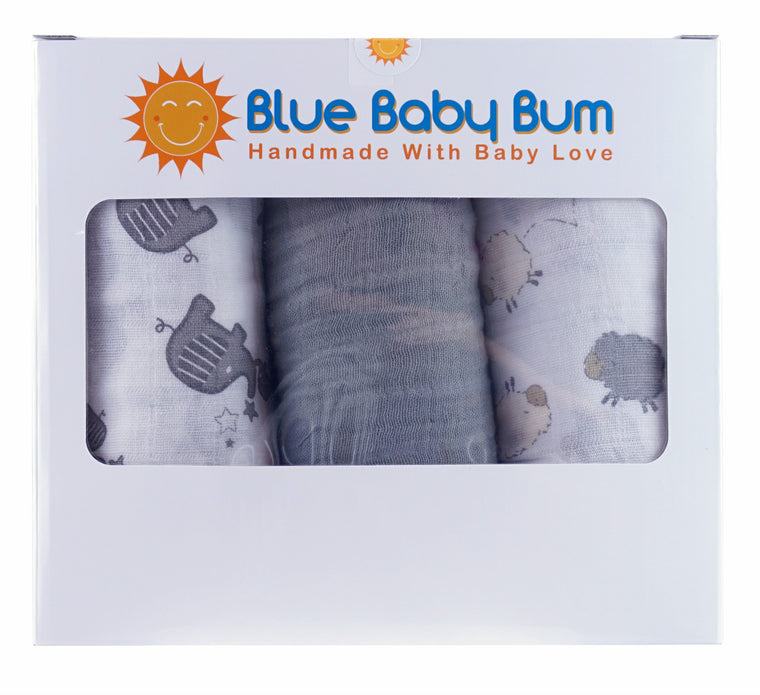 Muslin Swaddle Blanket Set Unisex