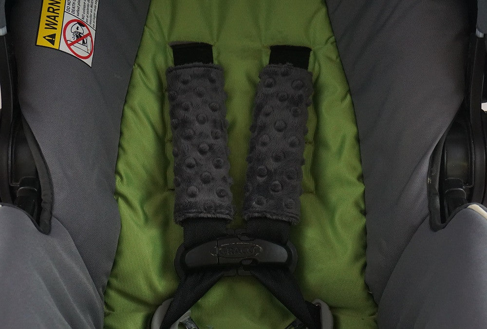 Car Seat & Stroller Strap Covers Grey in use