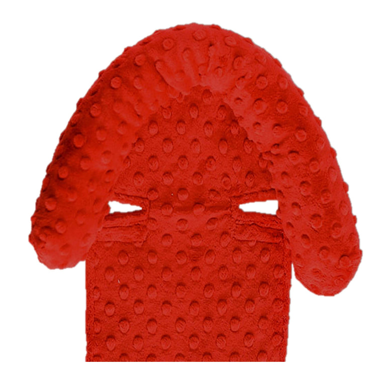 Car Seat Head Support Red
