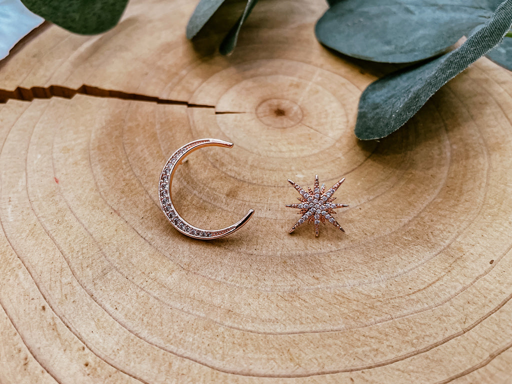 Over the Moon Ear Studs