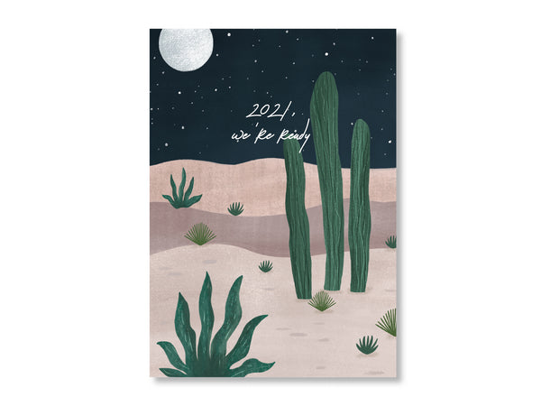 Art Print Poster - Desert Nightfall (Customisable Text)