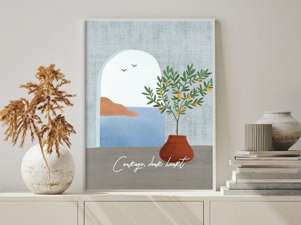 Art Print Poster - Summer's Hope (Customisable Text)