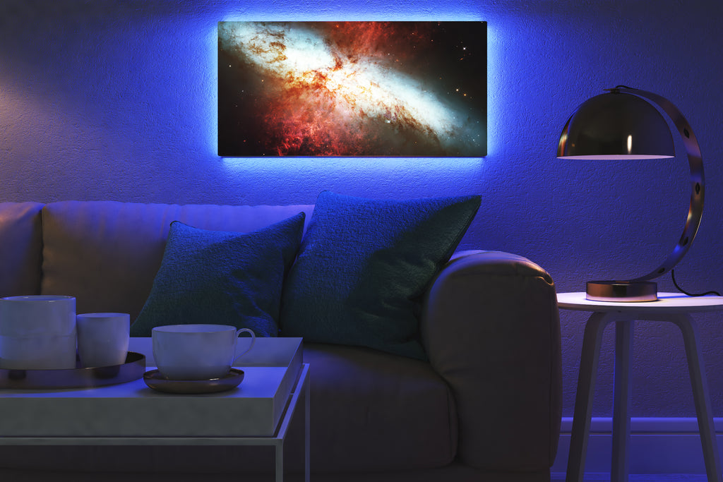 Home - LED Backlit Art - NASA I / Cigar Galaxy (25x50cm)
