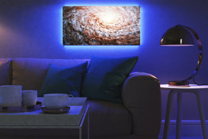 Home - LED Backlit Art - NASA I / Sunflower Galaxy (25x50cm)