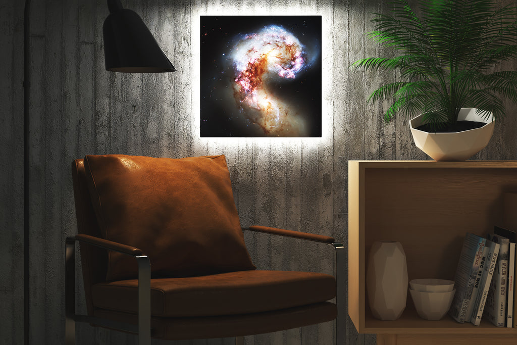 Home - LED Backlit Art - NASA I / Antennae (28x28cm)