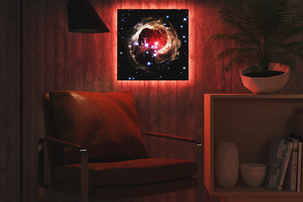 Home - LED Backlit Art - NASA I / Light Echo (28x28cm)