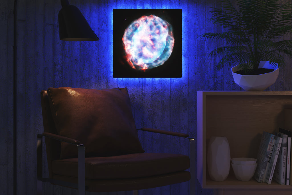 Home - LED Backlit Art - NASA I / Little Gem Nebula (28x28cm)