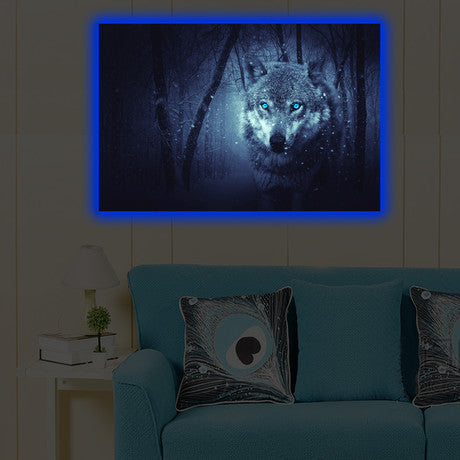 Home - LED Canvas || Wolf (40x60cm)