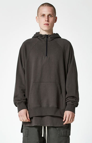 FOG - Fear Of God Essentials Half Zip Pullover Hoodie RAVEN