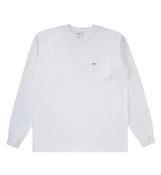 Noah Long Sleeve Pocket Tee (White)