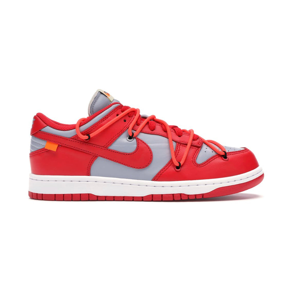 Nike X off white dunk low University red