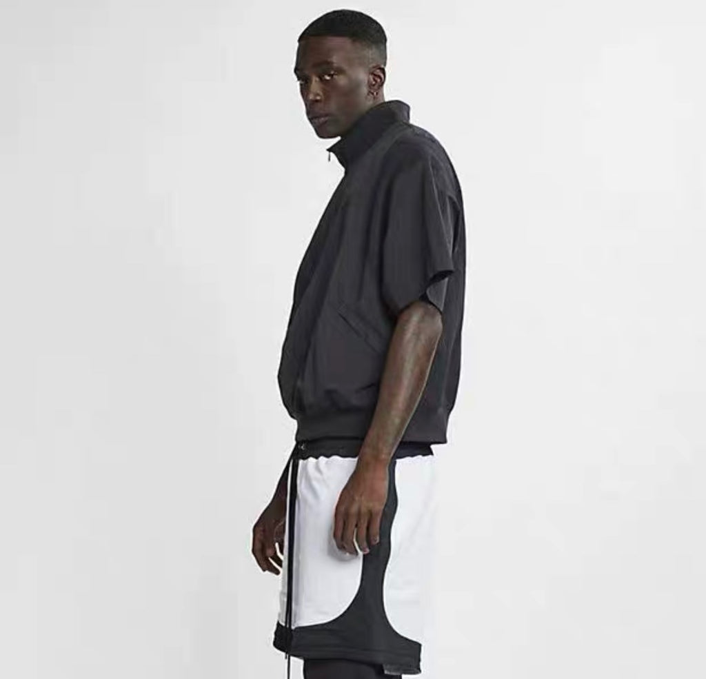 Nike x fear of god nba short sleeve half zip jacket
