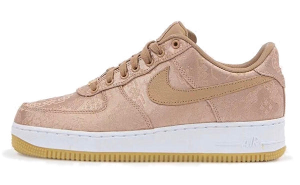 Nike X Air Force 1 CLOT rose gold
