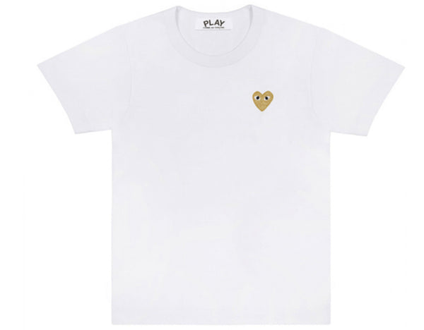 Comme des garcons CDG PLAY gold heart logo tee