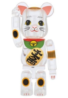 MEDICOM BEARBRICK CLEAR SKY TREE LUCKY CAT