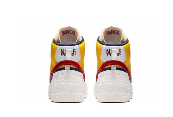 Nike X sacai blazer yellow / red